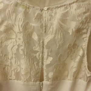 77cdd7b5ad3 Forever 21 Dresses - Cream Plus Size Dress with Gold Lace overlay